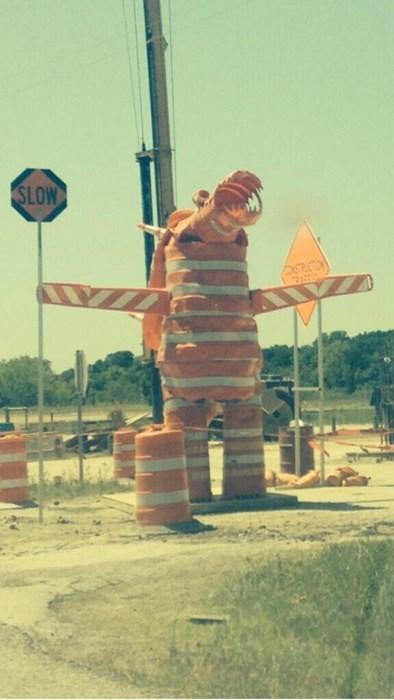 monday thru friday monster slow work road work - 8176151296