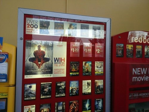 monday thru friday,upside down,when you see it,Spider-Man,work,redbox,you had one job