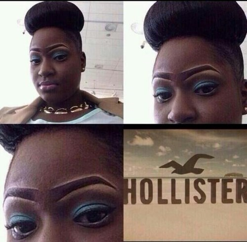 birds,eyebrows,hollister,poorly dressed
