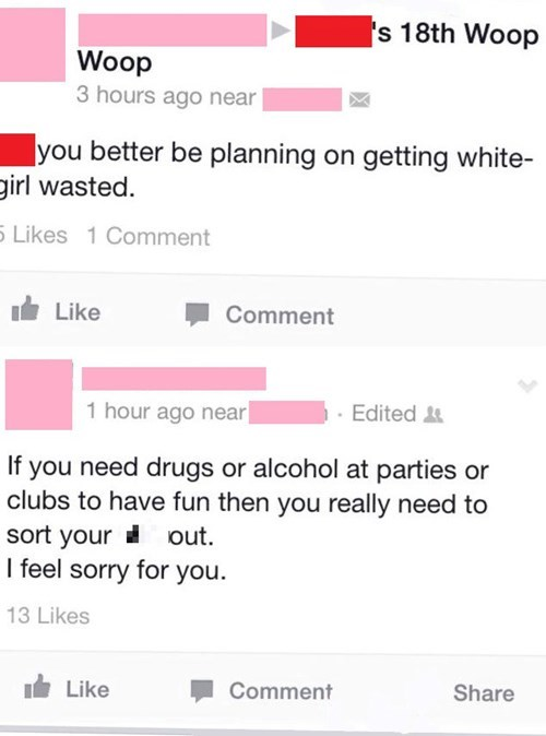Hypocrisy kids these days partying