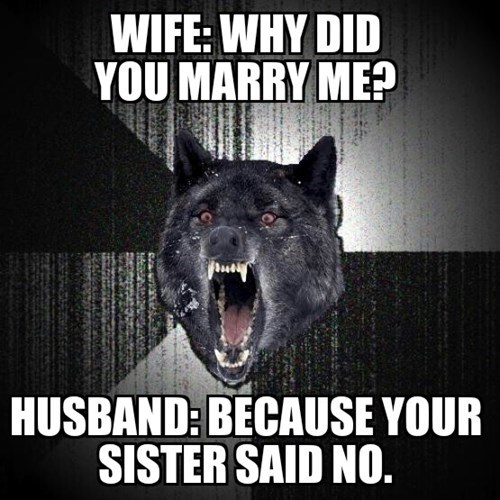 Insanity Wolf marriage - 8176347648
