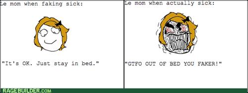 faking,mom,sick