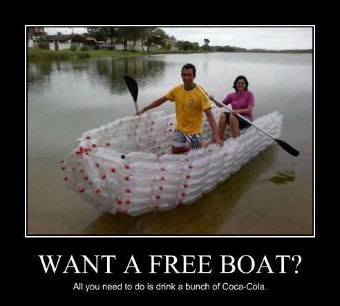 coke boat bottles free funny - 8177291008
