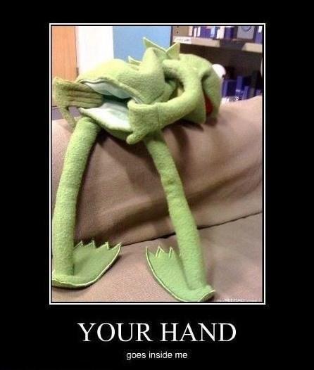 hand kermit gross puppet - 8177291264