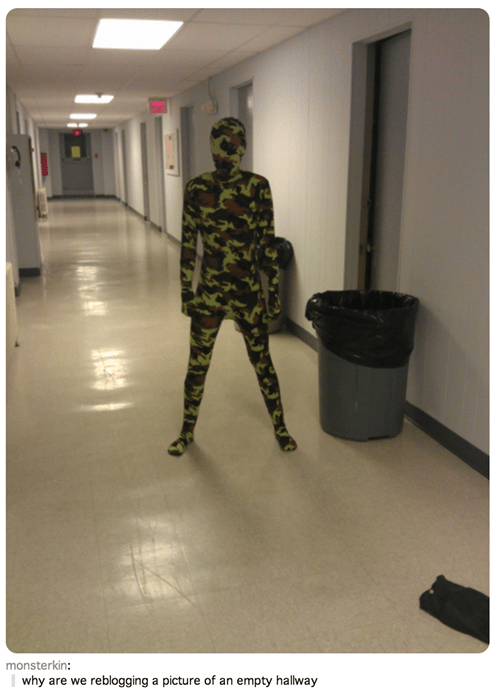 body suit,camouflage,poorly dressed