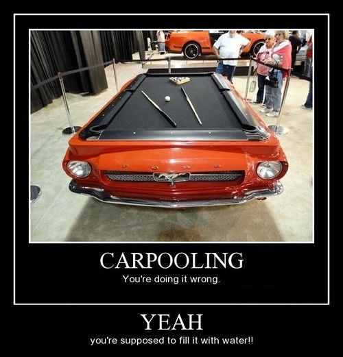 car,carpooling,funny,pool table