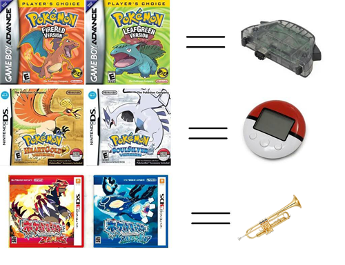 Pokémon video games trumpets pack-in - 8177552384