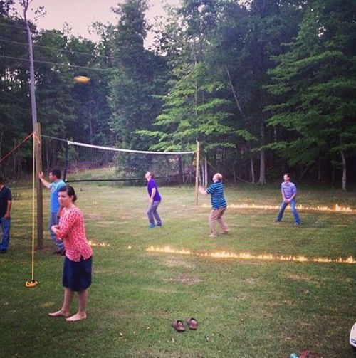 extreme fire volleyball