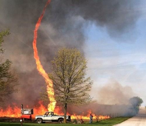 Damn Nature U Scary fire tornado