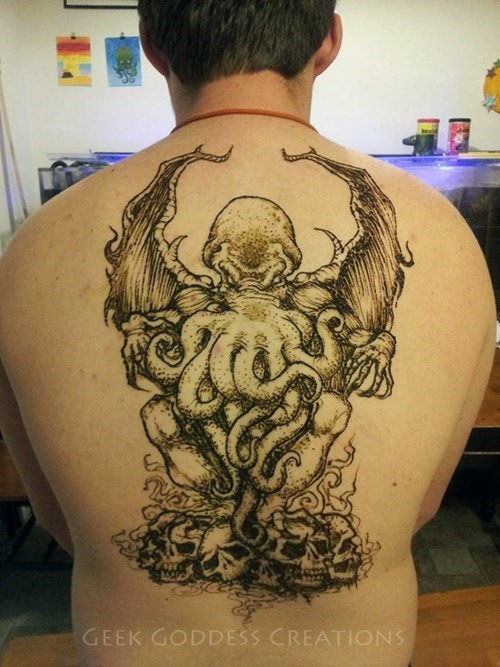 cthulhu nerdgasm tattoo WIN tattoos - 8177674496