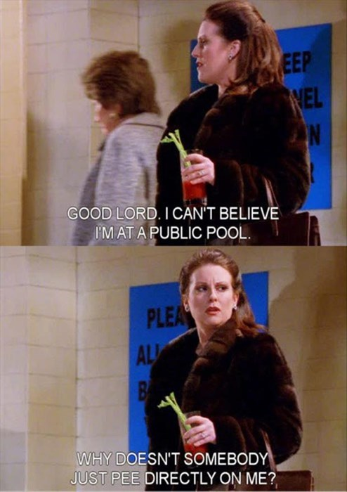 funny,pee,pool,will and grace