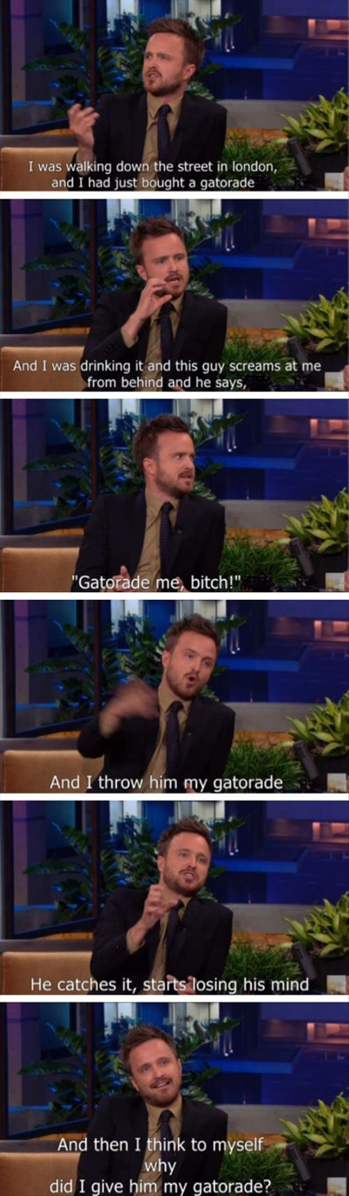 aaron paul breaking bad fans funny - 8177699328