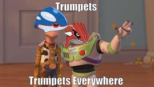 Trumpets. Trumpets Everywhere.