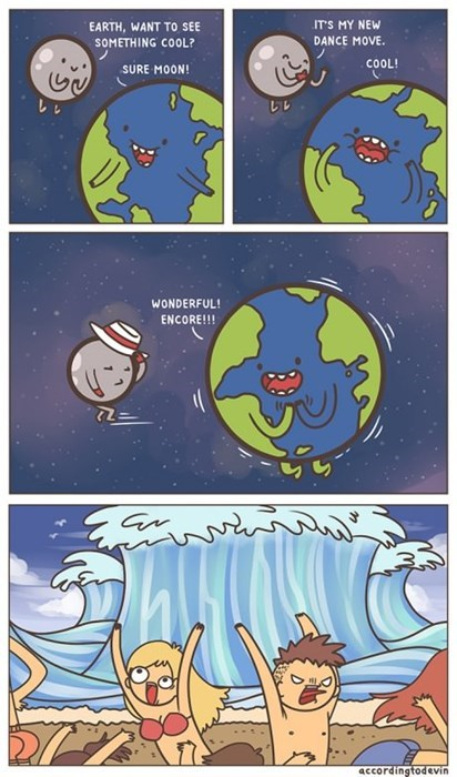 Tsunami,moon,earth,web comics