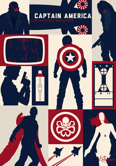 poster winter soldier captain america - 8178516736