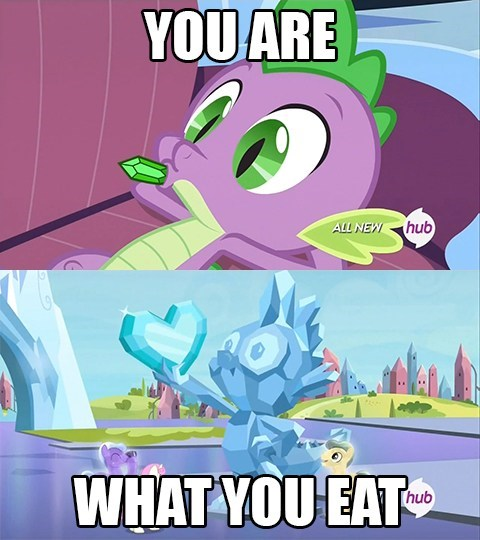you are what you eat,spike,gems