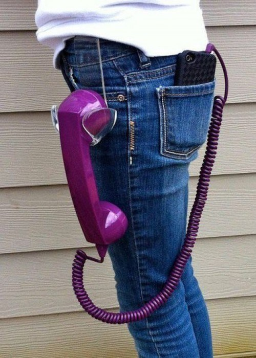 retro poorly dressed handset phone