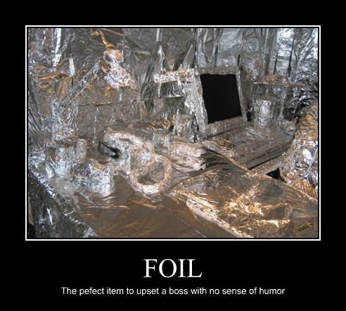 boss trolling work foil prank funny - 8178594304