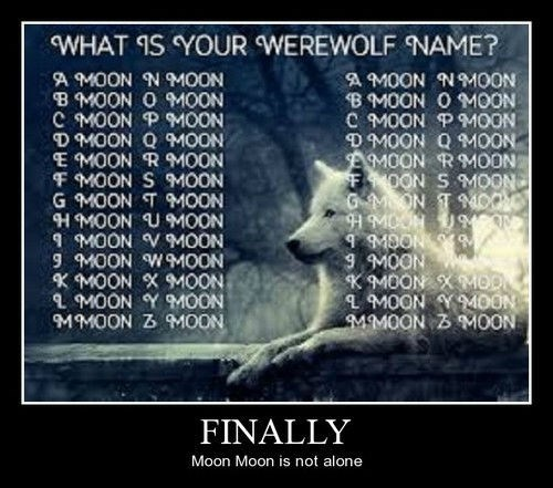 moon,werewolf,names,funny