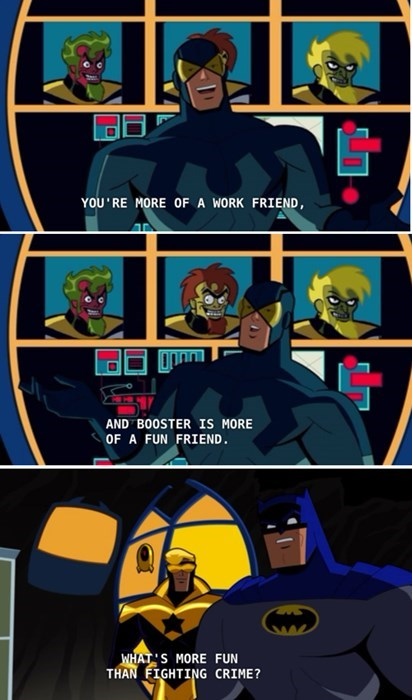 blue beetle,booster gold,batman