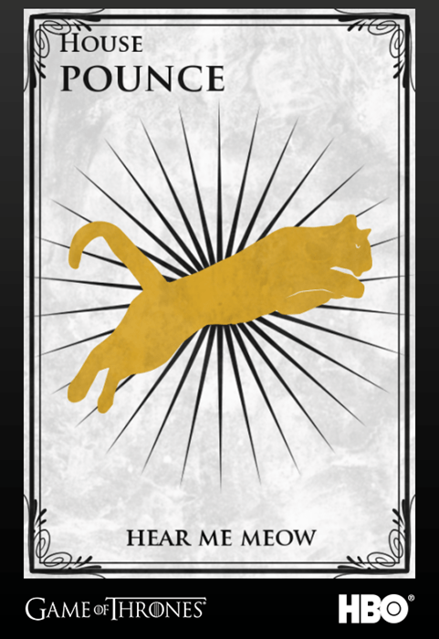 Game of Thrones ser pounce season 4 - 8178774784