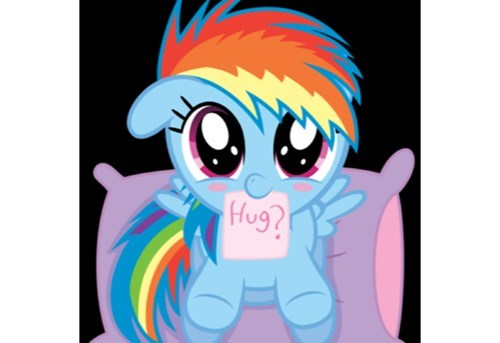 hugs squee rainbow dash