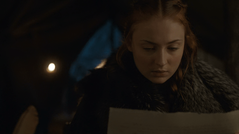 sansa stark,Game of Thrones,spoilers,letter