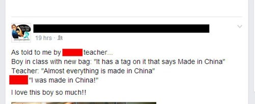 made in china,Kickass Kid,school