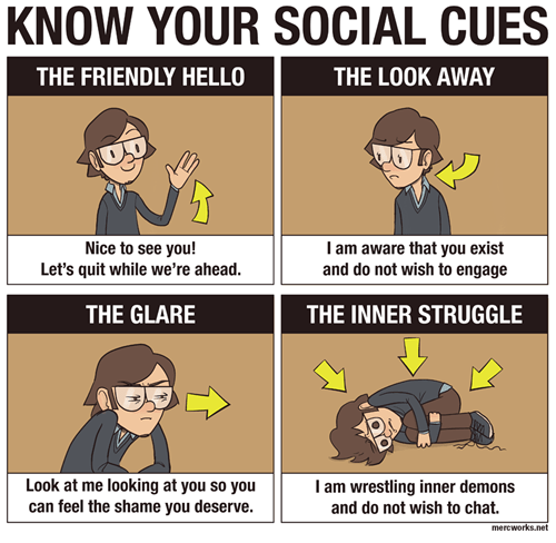 social cues,talking,interactions,anxiety,web comics