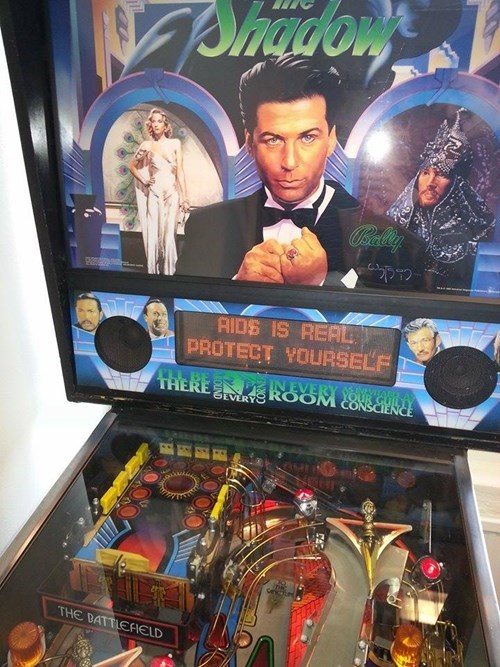 pinball machine,pinball,aids