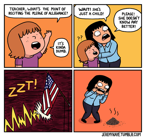 pledge of allegiance comics webcomics - 8179958784