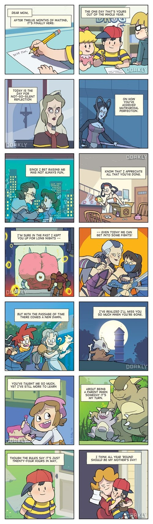 dorkly,feels,mothers day,video games,web comics