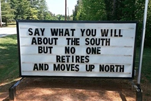 sign north retirement funny south g rated win - 8180132608