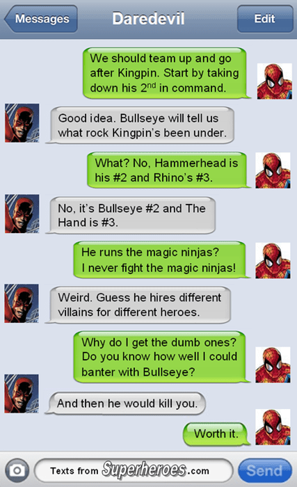 daredevil texts Spider-Man - 8180151808