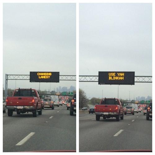 blinker funny sign wtf - 8180161792
