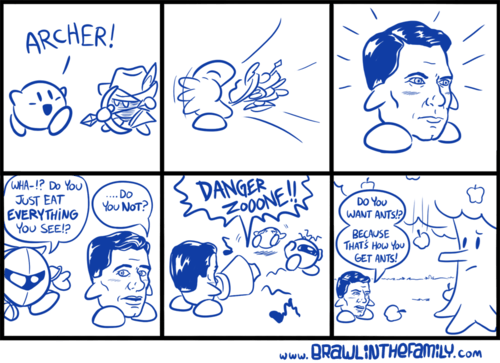 archer,video games,kirby,web comics
