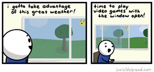 gamers,outside,web comics
