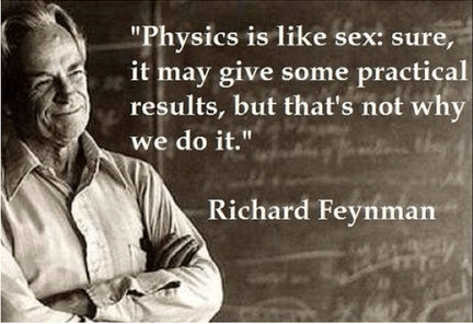 quote sexy times funny richard feynman - 8180374016