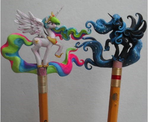 princess celestia princess luna pencils - 8180442368
