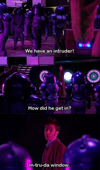 puns bed intruder doctor who funny - 8180488960