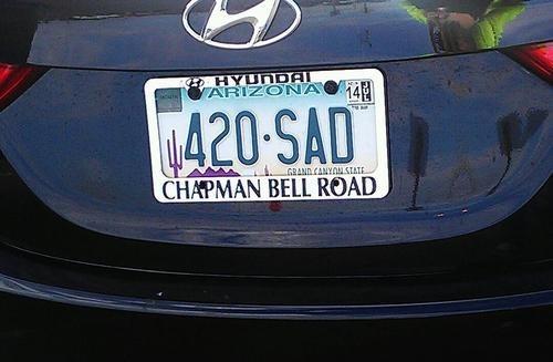 Sad wtf 420 license plate funny