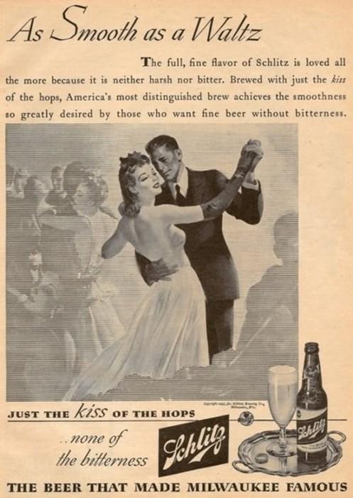 beer ads funny schlitz vintage waltz - 8180527360