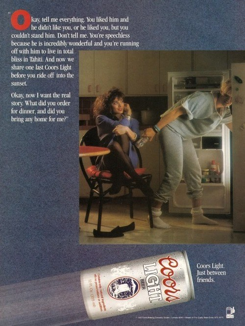 beer,ads,coors light,funny,vintage