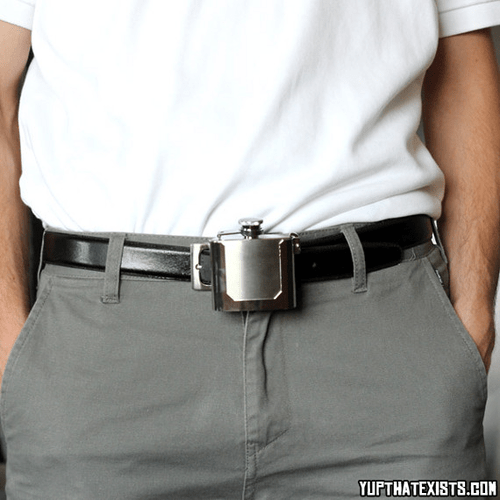 belt buckles flask funny wtf - 8180535552