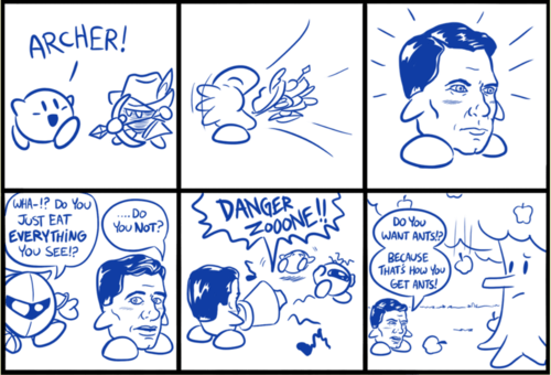 crossover,kirby,archer,web comics