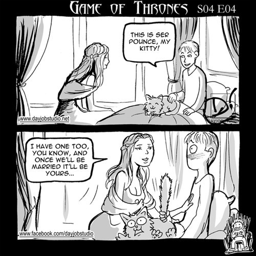 Game of Thrones,ser pounce,season 4,web comics
