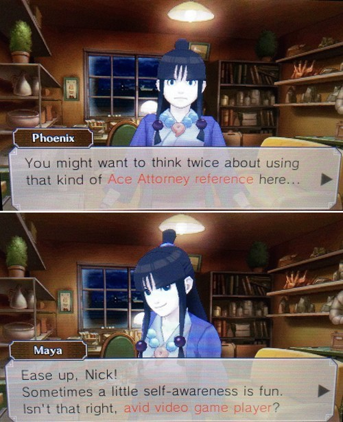 Ace Attorney fourth wall phoenix wright - 8181696768