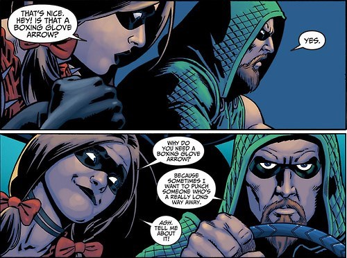 green arrow Straight off the Page