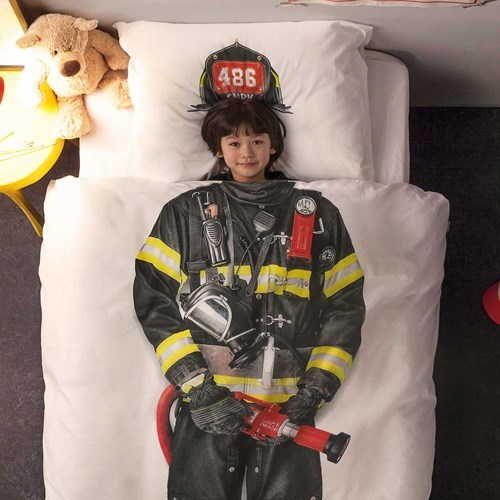 bed bedding firefighters kids win parenting