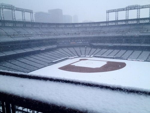 baseball snow weather MLB twitter colorado rockies